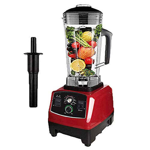 Smoothie Smart Blender, Multi-Function Smoothie Machine, High-Performance Snel Het Malen Van Ijs Met 10-Speed ​​Control, 2L Grote Capaciteit Ontwerp Geschikt Voor Het Maken Diverse Dranken Smoothies,Red