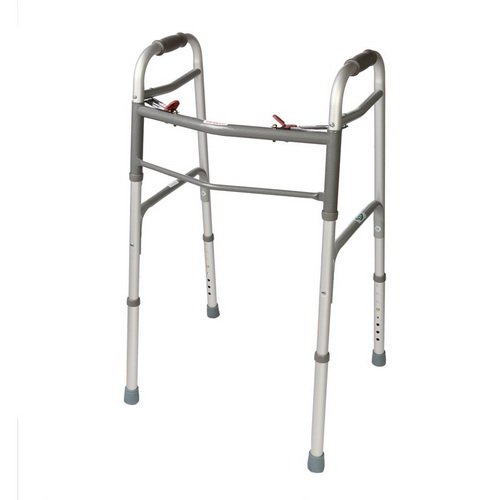 Folding Walker. 2 Button NO/Wheels. Great for Adults & Seniors.