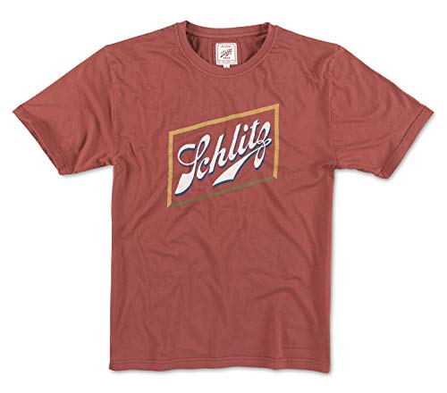 Red Jacket Pabst Schlitz Main Logo Men's Vintage Brass Tacks 2 T-Shirt (X-Large)