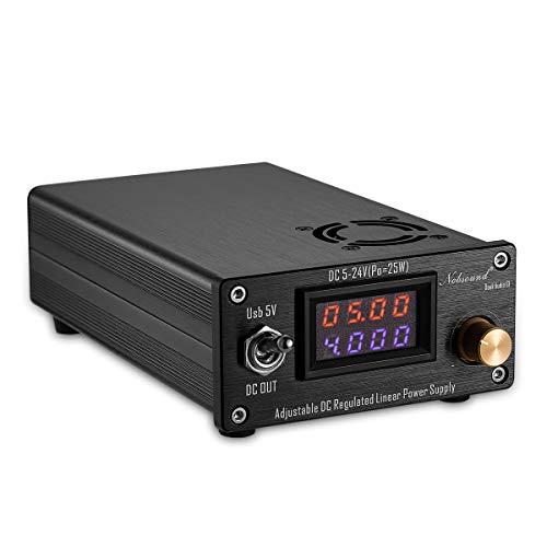 Nobsound - Fuente de alimentación lineal regulable DC 25 W USB DC5 V-24 V