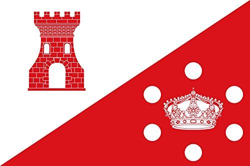 magFlags Bandera Large Municipio de Torrejoncillo del Rey Castilla-La Mancha | Bandera Paisaje | 1.35m² | 90x150cm