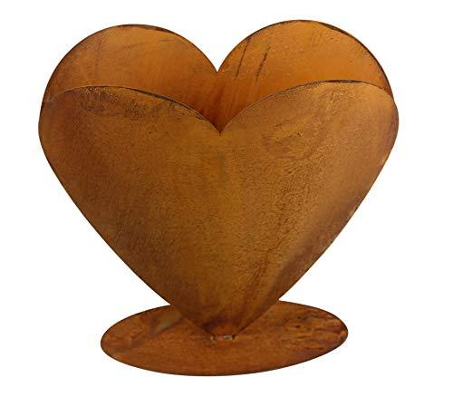 Bornhöft Herz zum bepflanzen Rost Edelrost 30cm x 30cm rostige Gartendeko Gartendekoration Matall Pflanzgefäß Rost