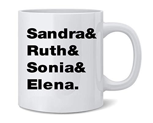 N\A Sandra Ruth Sonia Elena. Taza de café de cerámica para Mujer de la Corte Suprema, Taza de té, Regalo Divertido y novedoso, 11 oz
