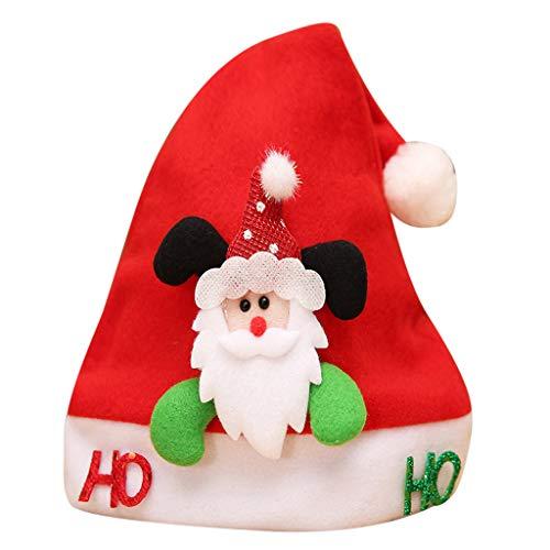 Sayla Weihnachten Dekoration Weihnachtsschmuck, WeihnachtsmüTze NikolausmüTze PlüSch Rand Weihnachtsfeier Rot Santa MüTze Nikolaus Dicker Fellrand Aus PlüSch Kuschelweich & Angenehm FüR