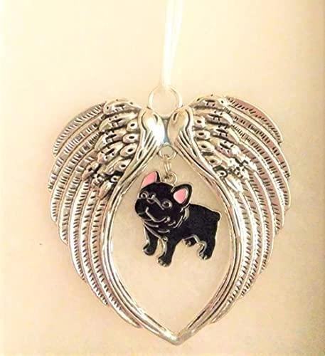 Black French Bulldog Dog Memorial Christmas Wing Ornament Sympathy Gift for Pet Owner Furbaby Loss
