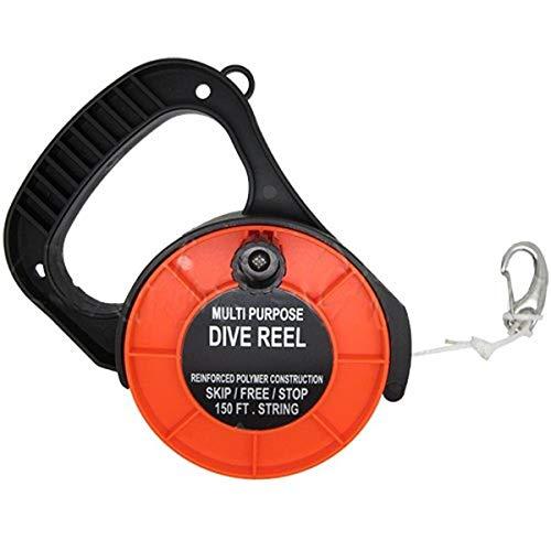 Scuba Choice Scuba Diving Multi Purpose Dive Reel, 150', Orange