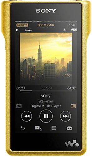 Sony NWWM1Z High-Resolution Audio Walkman (256 GB Speicher, Micro SD Slot, S Master HX Engine, Kupfer Gehäuse 10,2 cm (4 Zoll) LED-LCD Multi-Touchdisplay) gold