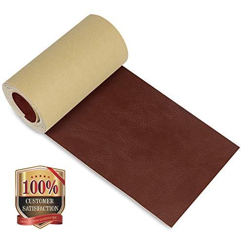 Parche de reparación de piel, cinta adhesiva de piel para sofás, sillas, asientos de coche, bolsos, chaquetas, 10,6 x 127,8 cm (Crazy Horse)