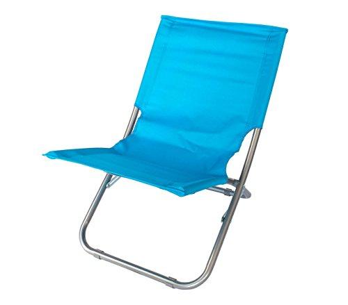 268636 ONSHORE chaise pliante pliante pour plage, terrasse, montagne ou piscine - Bleu