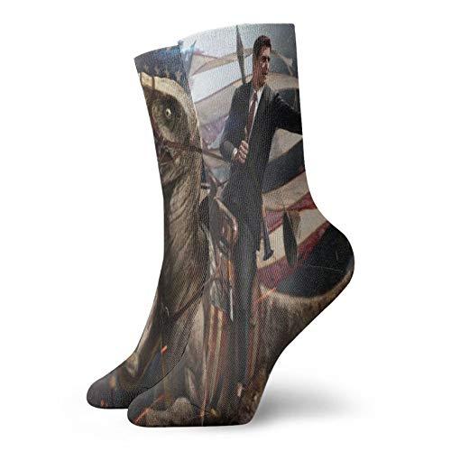 Unisex Socks Elastic Ronald Reagan Cartoon Crew socks Athletic Running Socks short sock Casual Socks funny Gift Tight High Socks