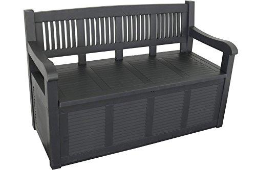Gartenbank 2-Sitzer Aufbewahrung Kissenbox Gartenmöbel 130x60x85 cm