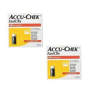 buy Accu-Chek Fastclix Lancets, 204 Count (2 Pack) Diabetes Care