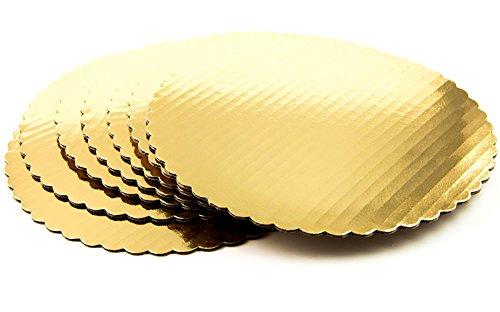 Chefible Premium Gold Cake Circles, Corrugated, Cake Board, 10 Inch Diameter, Pack of 12