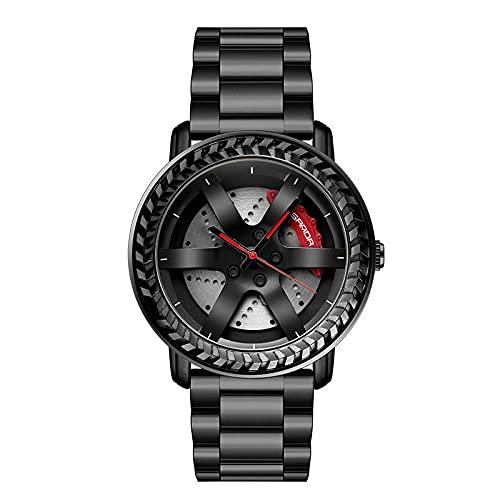 SANDA Relojes De Pulsera,Mira los Relojes de la Tira de Acero de la Tendencia de la Moda de los Hombres con Reloj de Cuarzo Reloj de Hombre Casual-Negro