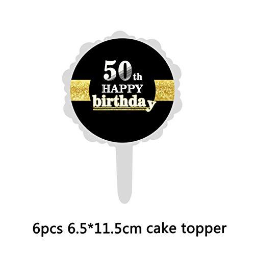 50e Verjaardag Partij Decoraties Volwassen Latex Confetti Ballonnen Papier Bloemen Zwarte Stickers 50 Jaar Oude Partij benodigdheden 7D NO.17