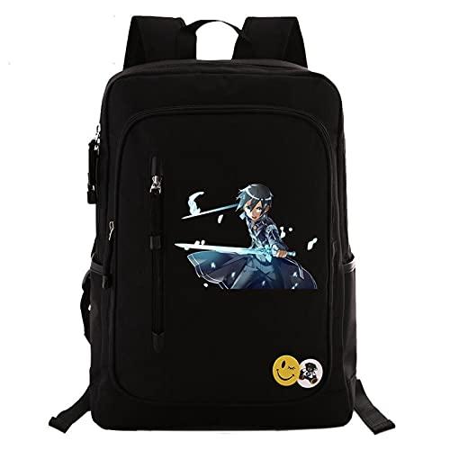 Sword Art Online SAO Anime Zaino Zaino Borsa da viaggio Borsa da scuola Moda Adolescenti Tela Borsa per laptop casual