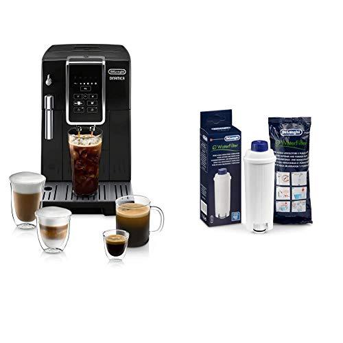 De'Longhi ECAM35020B Dinamica Automatic Coffee & Espresso Machine TrueBrew (Iced-Coffee), Black & 5513292811 Water Filter, Pack of 1, White