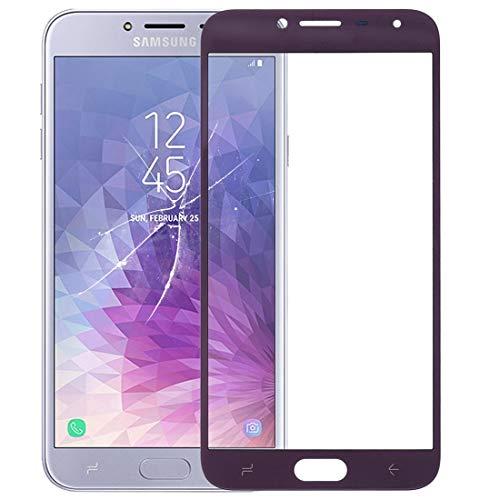 meihansiyun Accesorios de un teléfono Pantalla Frontal de la Lente Exterior de Vidrio for Galaxy J4 (2018) Accesorio (Color : Purple)