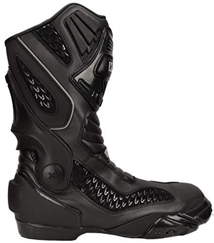 Stivali stivaletti per moto sportive con protezioni racing e sliders da pista (42)