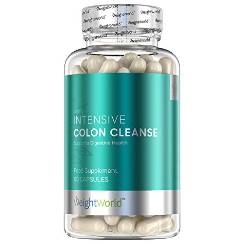 Intensive Colon Cleanse Tablets - Bacterial Detox Care Keto Pills to...