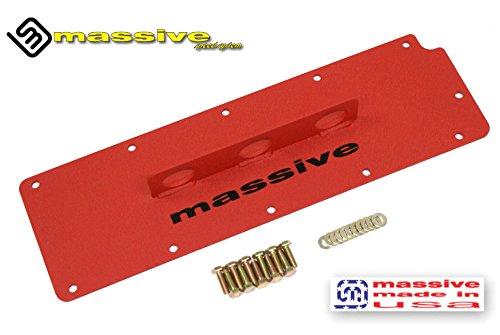Massive Speed Engine MADE IN USA! Lift Plate Compatible w/GM LSX LS GEN IV Hoist Picker Crane 4.8 5.3 6.0 6.2 7.0 LS2 LS3 Truck L96 L76 (Wrinkle Red)