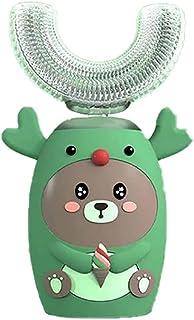 Orale Reiniging Kinderen elektrische automatische 5 versnellingssnelheidsmodus voor verjaardagscadeau U Type Whitening Tan...