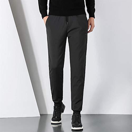 Pantalones hacia abajo pantalones de invierno para hombres pantalones casuales espesados más talla grande pantalones térmicos calor térmico al aire libre al aire libre a prueba de viento a prueba de