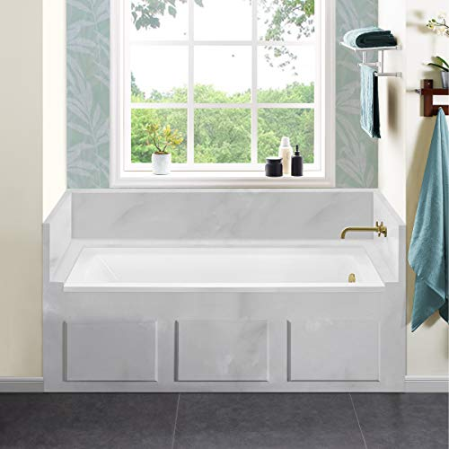 Swiss Madison Well Made Forever SM-DB566 Voltaire Alcove Bathtub, 66' x 32', Glossy White