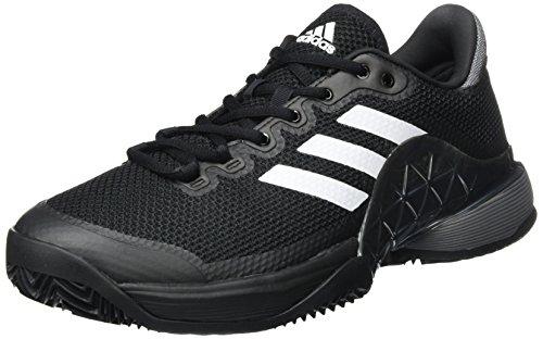adidas Barricade 2017 Clay, Zapatillas de Tenis Hombre, Negro (Negbas/Nocmét/Ftwbla), 39 1/3 EU