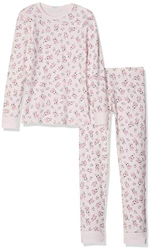 Undercolors of Benetton Mädchen Lutk Fashion 2nd Del Zweiteiliger Schlafanzug, Pink (Rosa Allover 60l), 170 (Herstellergröße: KL)