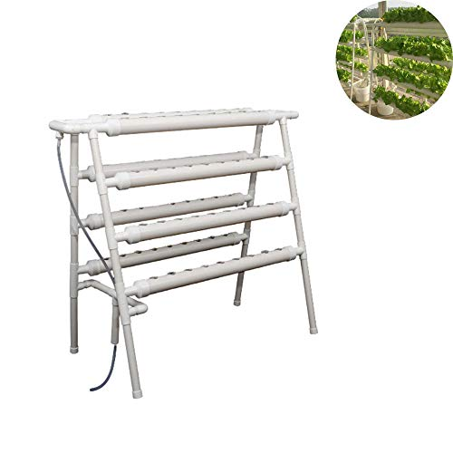 JIASHU Kit de Cultivo hidropónico, Sistema de Plantas de jardín - 4 Capas 70 sitios de Plantas, para Verduras de Hoja Lechuga Hierba Apio Col 41.7 * 21.7 * 47.2 Pulgadas