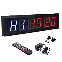 BTBSIGN 2.3 Programmable LED Interval Timer Countdown Clock Stopwatch