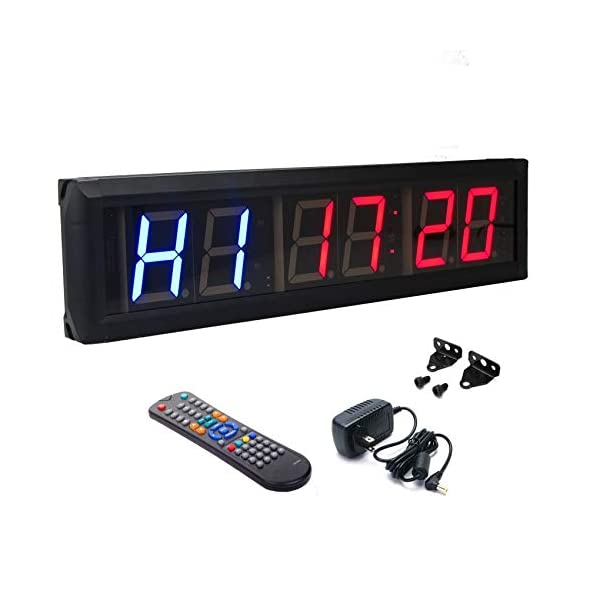 BTBSIGN 2.3″ Programmable LED Interval Timer Countdown Clock Stopwatch