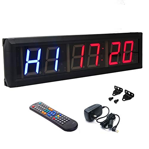 BTBSIGN 2.3' Programmable LED Interval Timer Countdown Clock Stopwatch