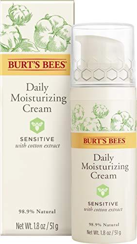 Burt's Bees Natürlich  feuchtigkeitsspende Tagescreme für empfindliche Haut mit Baumwollextrakt,...