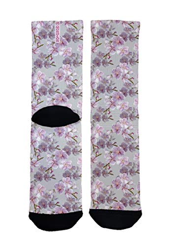 Monolon Calcetines técnicos divertidos y originales para ciclismo, running o cualquier deporte, mod. Sakura (S. 37 a 39)