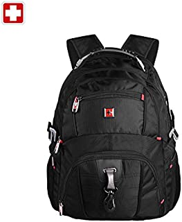 "SWISSWIN Swiss Backpack/Travel Backpack/School Backpack/Daily Backpack SW8112 Black 16"" Laptop"
