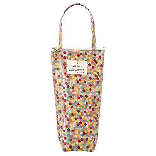保冷ペットボトルカバー(Bタイプ) マイボトルケース ボトルバッグ 旅行 レジャー かわいい おしゃれ 傘ケース ボトルケース 花柄 (キャンディレインボー(ピンク))
