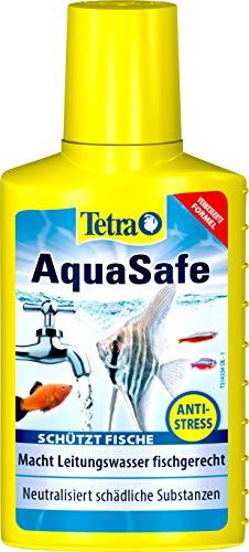 Tetra AquaSafe (Qualitäts-Wasseraufbereiter für fischgerechtes und naturnahes Aquariumwasser, neutralisiert fischschädliche Stoffe im Leitungswasser), 100 ml Flasche