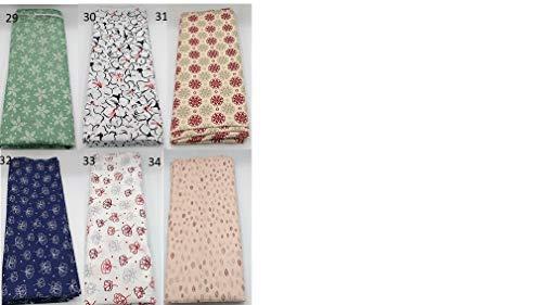 Stoffpaket Blumen verschiedene Größen Baumwolle Stoffreste Webware Patchen Patchwork Baumwollstoff Restepaket floral rosa weiß pastell gelb blau grün rot