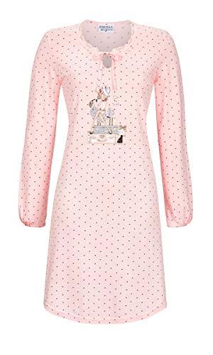 Ringella Lingerie Damen Nachthemd mit Kleiner Spitze Crystal Rose 46 9561021, Crystal Rose, 46