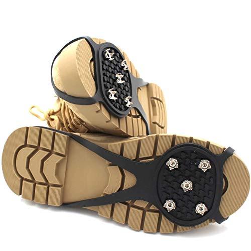 3 unids Universal antideslizante Gripper Spikes - Niños y tacos de hielo para adultos con uñas antideslizantes de 5 garras, tracción de las pinzas de hielo, zapatos duraderos y empuñaduras de nieve, c