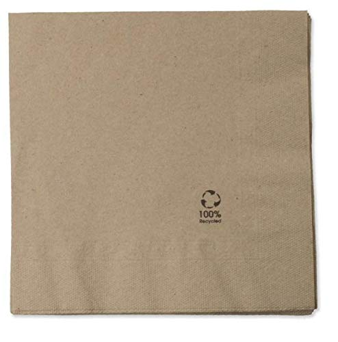 150 servilletas papel kraft, eco-friendly