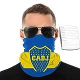 KNJF Boca Juniors - Pañuelo transpirable para el cuello, pasamontañas, para protección solar UV, con 6 partes, color