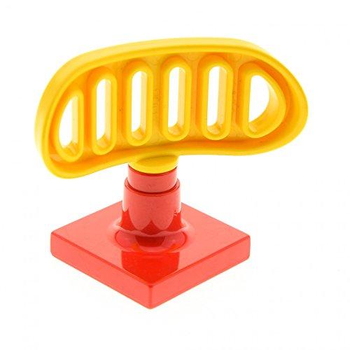 1 x Lego Duplo Antenne Radar gelb rot 2 x 2 drehbar Flughafen Polizei Schiff Boot Feuerwehr 2687 4376 c03