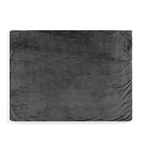 Solide, beruhigende Tagesdecke, 121 x 91 cm, aus Polyesterstoff, Anthrazitgrau
