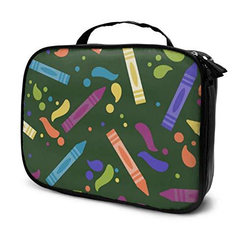 Art Creative Fashion Infantil Crayon Viaje Hombres Neceser Neceser Bolsa de Maquillaje Cosméticos Estuche Multifunción Impresa Bolsa para Mujeres