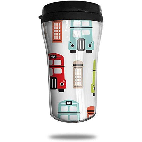 Londen UK Icon van de Road Boot Reizen Koffie Mok Gedrukt Draagbare Vacuüm Beker, Geïsoleerde Thee Cup Waterfles Tumblers voor Drinken