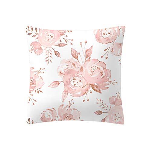 Miwaimao Funda de cojín de moda de oro rosa rosa rosa sofá almohada coche juego de estilo nórdico geométrico decoración del hogar 45x45cm-F