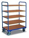 Etagenwagen hoch Traglast (kg): 250 Ladefläche: 850 x 500 mm RAL 5010 Enzianblau